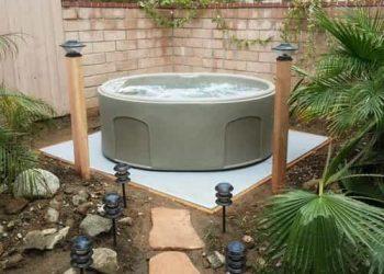 concrete pad for hot tub