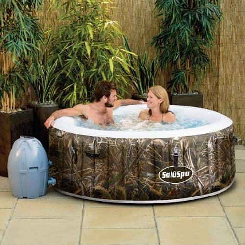 SaluSpa Realtree MAX-5 AirJet 4-Person Blow Up Hot Tub Walmart | Features & Review