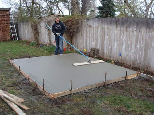 concrete pad for hot tub