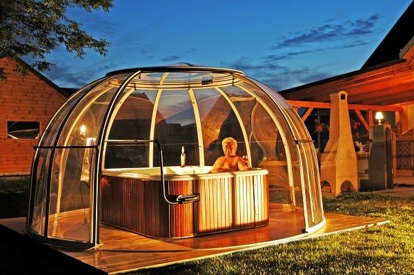 hot tub tent