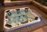 in ground hot tub feature