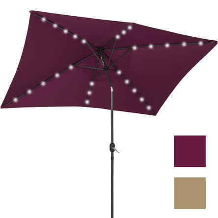10' x 6.5' LED Lighted Solar Patio Umbrella by Best Choice Products