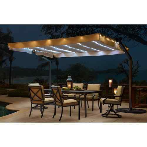 Lenora Solar Lighted Mobile Shade by Sunjoy