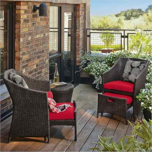Patio Furniture with Hidden Ottoman
