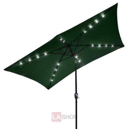 10' x 6.5' Solar Aluminum Rectangle Tilt Patio Umbrella by LASHOP