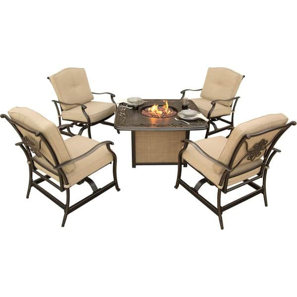 patio furniture sets with fire pit