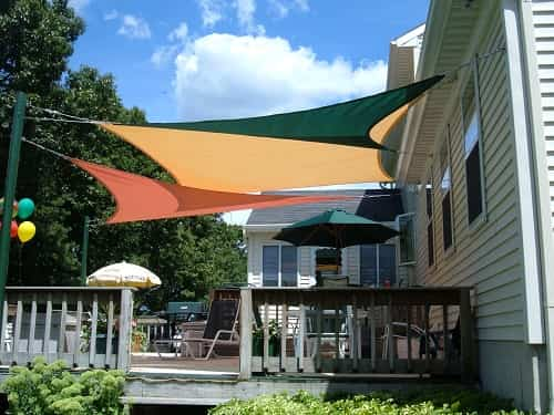 shade sails patio ideas 3