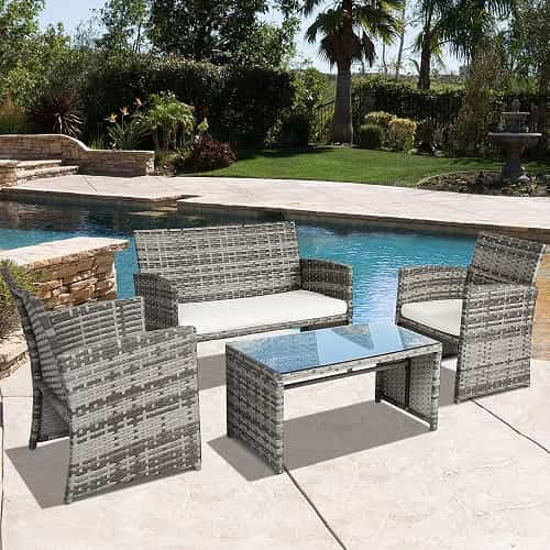 gray wicker patio furniture