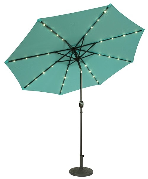 lighted umbrella for patio