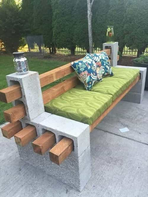 patio bench with cushions