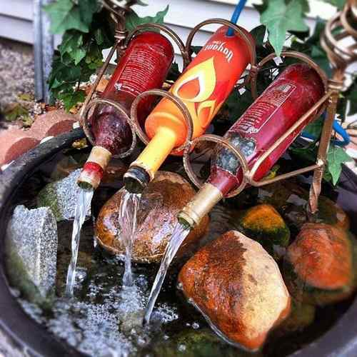 Wine Bottles Waterfall