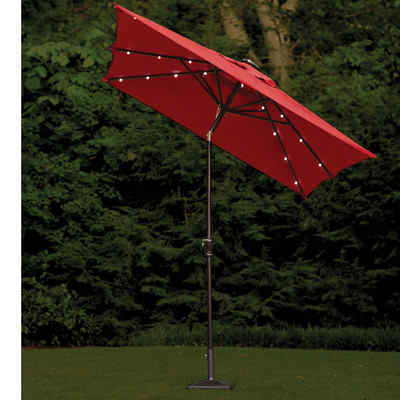 7' x 9' Allstone Rectangular Illuminated Umbrella by Darbo Home Co
