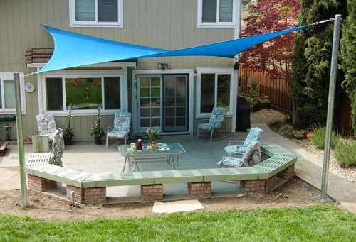 shade sails patio ideas 2