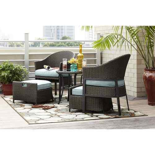 10 patio furniture with hidden ottoman that is for Home design 6 piece patio set