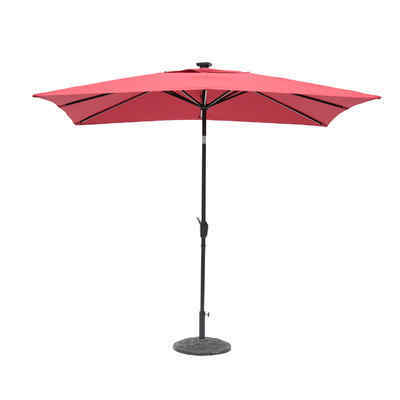7' x 9' Irene Next Gen Solar Lighted Rectangular Illuminated Umbrella