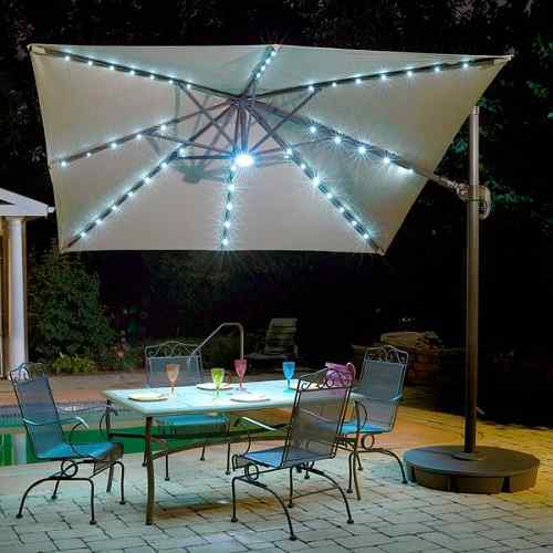 10' Santorini II Fiesta Square Cantilever Umbrella by Island Umbrella