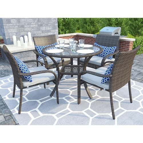 gray wicker patio furniture - 10 Most Adorable Gray Wicker Patio Furniture Set Under $500