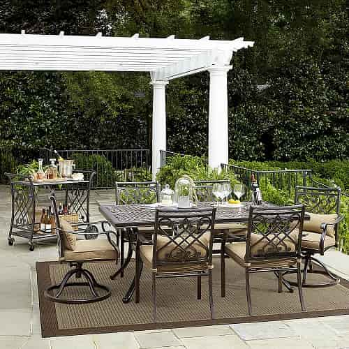 outdoor patio set 10 must grand resort patio furniture set 1000 30240
