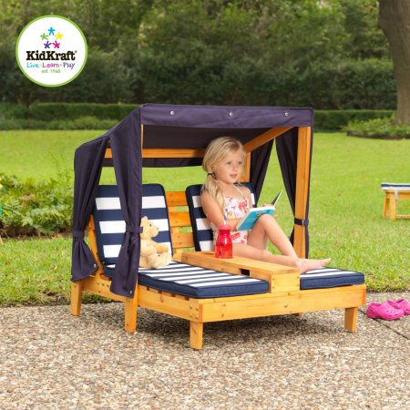 KidKraft Outdoor Wooden Double Chaise Lounger