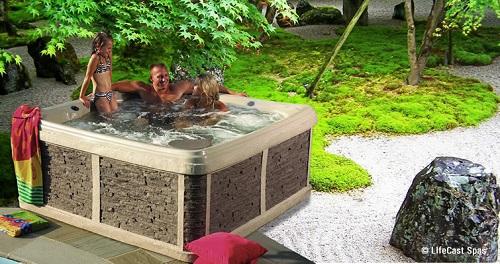 LifeCast hot tub