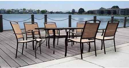Mainstays Sand Dune 7 Piece Patio Dining Set