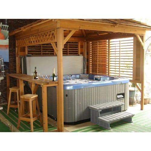 amazing tubtops hot tub enclosure kits to give enjoyable. Black Bedroom Furniture Sets. Home Design Ideas