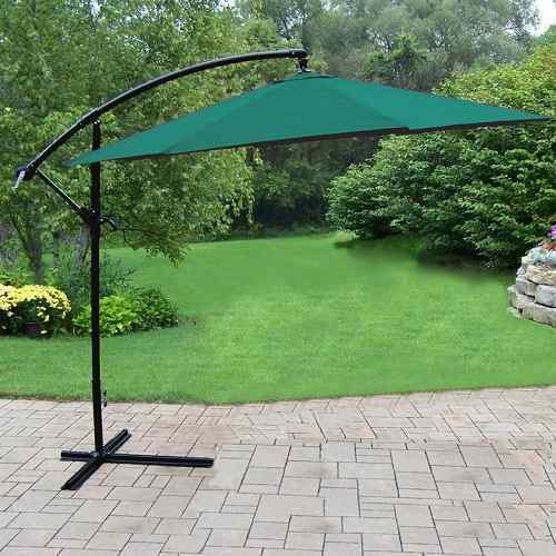Oakland Living Rochester Green offset Patio Umbrella