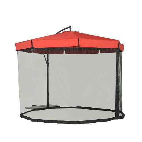 Simply Shade Red Offset Patio Umbrella