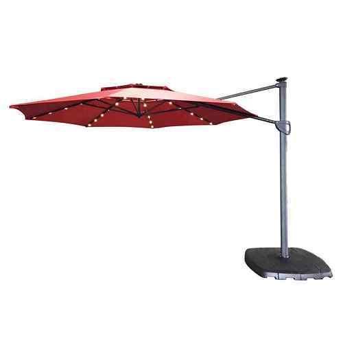 Sunjoy Red Garden Patio Umbrella with Base