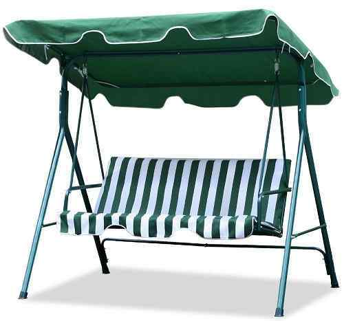 World Pride 3 Seater Cushioned Patio Swing with Canopy