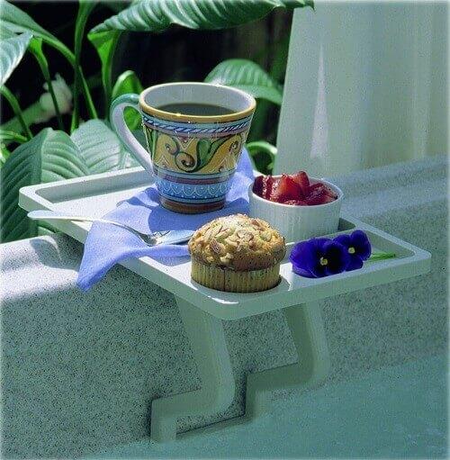 aqua tray spa side tray