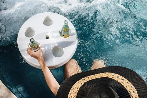 Genial Credit: Shade Science. Another Floating Spa Caddy For Your Hot Tub ...
