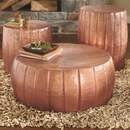copper hammered drum collection