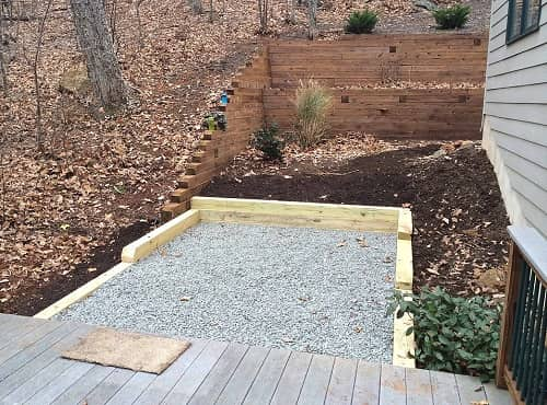 hot tub base pad