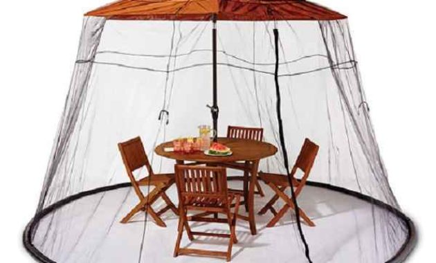 mosquito netting for patio umbrella