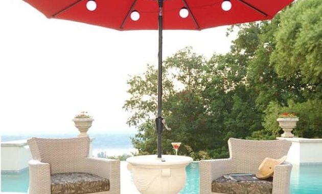 lighted umbrella for patio