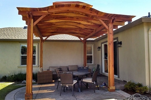 Free standing patio cover kits with easy diy installation for Redwood patio cover