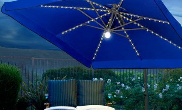 Rectangular Patio Umbrella With Solar Lights Amazing 60 Beautiful Rectangular Patio Umbrella With Solar Lights
