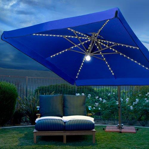 10 Beautiful Rectangular Patio Umbrella, Patio Umbrellas With Solar Lights