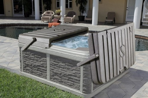 hard hot tub cover