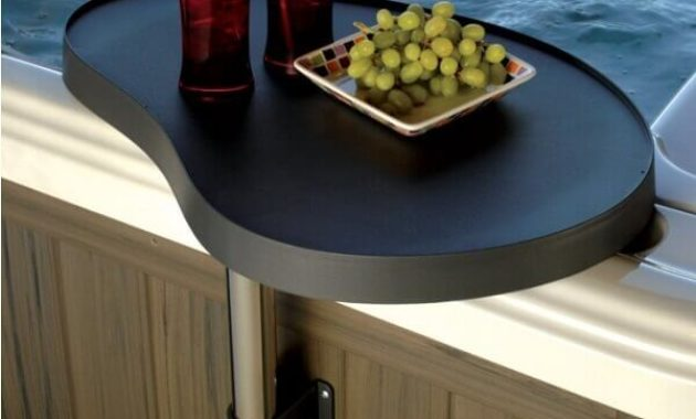 hot tub side table feature