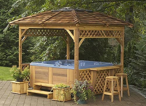 Amazing tubtops hot tub enclosure kits to give enjoyable for Spa gazebo kits