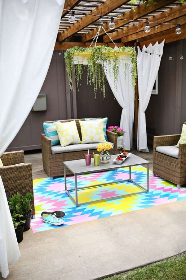 outdoor rugs for patio feature