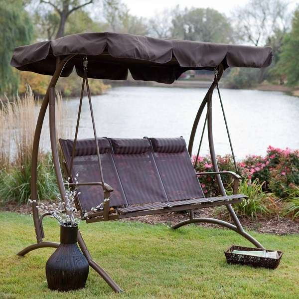 patio swing with canopy