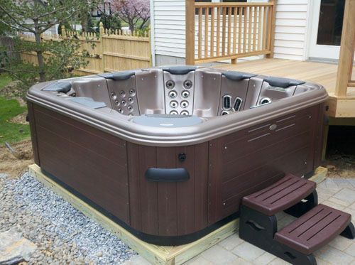 plastic hot tub