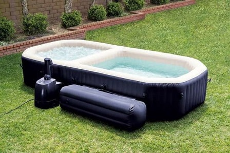 Walmart Blow Up Hot Tub Intex All In One Hot Tub And Pool