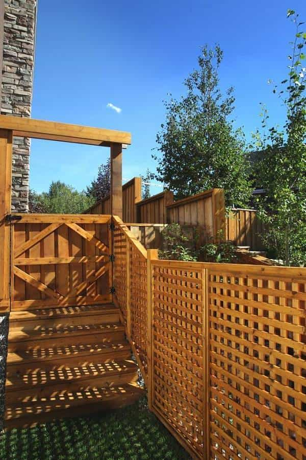 cedar fence feature
