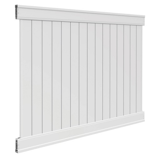 Emblem white privacy vinyl fence freedom fence review - Vinyl railing reviews ...