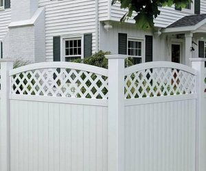 pvc fence feature