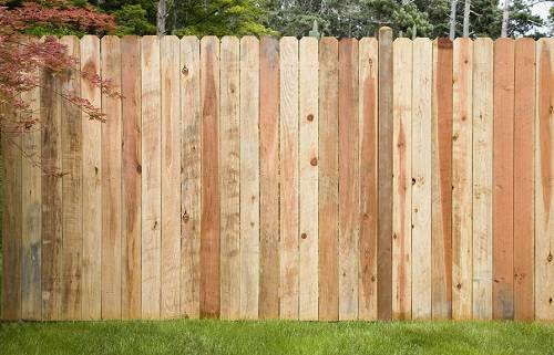 redwood fence panel